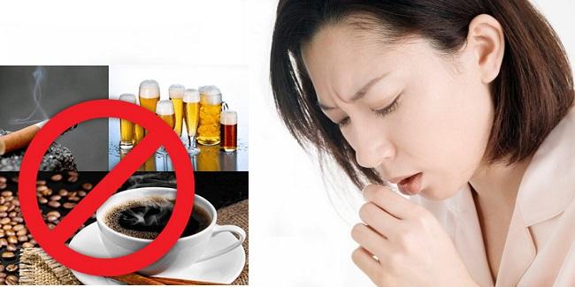 Bị ho nên kiêng ăn uống gì?