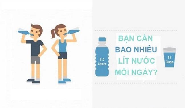 Cách tính lượng nước cần uống mỗi ngày theo cân nặng
