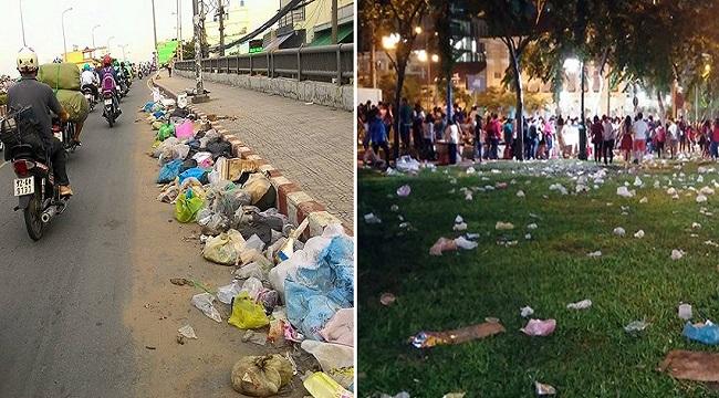 Hậu quả xả rác bừa bãi