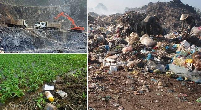 Nguyên nhân của ô nhiễm môi trường đất
