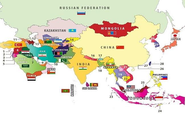 Những quốc gia nào đông dân nhất châu Á?